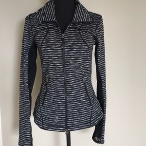 Zella zip up jacket striped Small